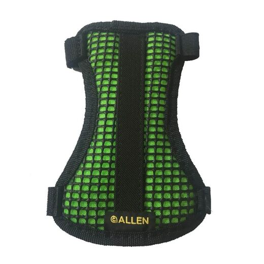 Allen 2 Strap Mesh Armguard BlackHot Green