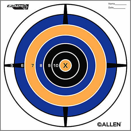 Allen EZ Aim Sight 12andquot Bullseye Target 12 Pack