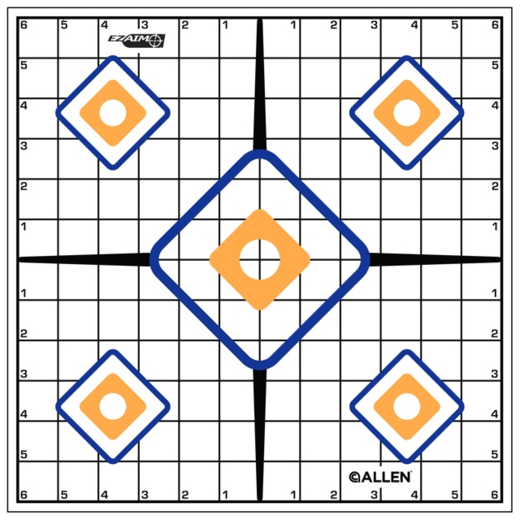 Allen EZ Aim Sight Grid Target 12 Pack