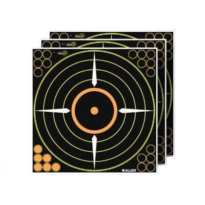Allen EZ Aim Splash 12andquot Adhesive Bullseye Target 5 Pack