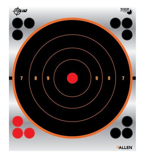 Allen Ez Aim 9+quot Reflective Bullseye Target Pack Of 6