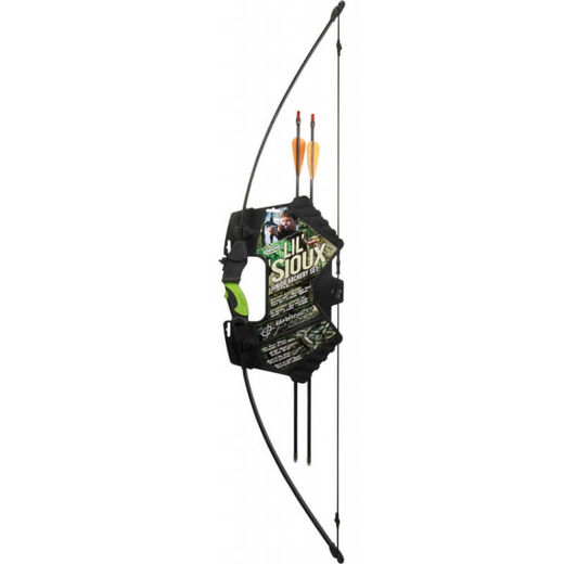 Barnett Youth liland39 Sioux BlackGreen Recurve Bow