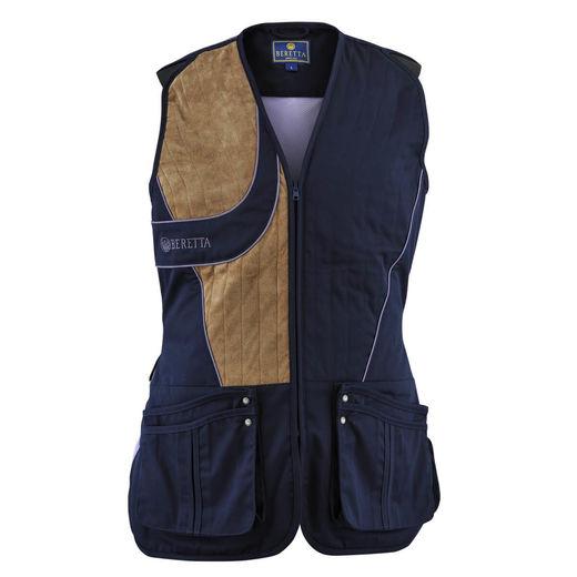 Beretta Womenand39s Uniform Shooting Vest Navy  Purple
