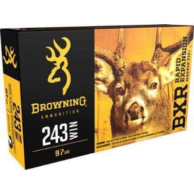 Browning BXR 243Win 97Grain REMT Pkt 20
