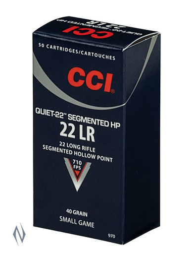 CCI 22LR Quiet 40Grain Segmented Hollow Point