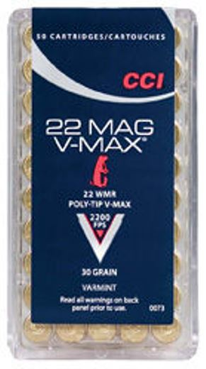 CCI 22WMR 30GN V Max Polymer Tipped 50 Pkt