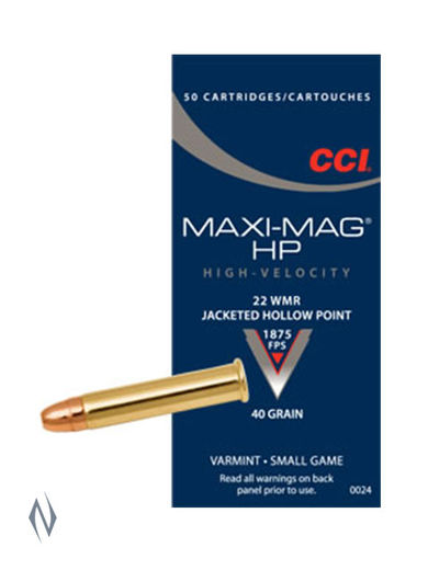 CCI MaxiMag 22WMR 40GN Jacketed Hollow Points Brick 500