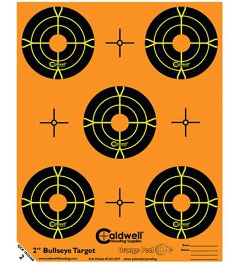 Caldwell Orange Peel 2andquot Bullseye Target 10 Pack