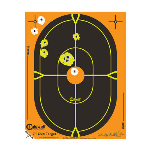 Caldwell Orange Peel 7andquot Oval Targets 10 Pack
