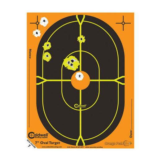 Caldwell Orange Peel 7andquot Oval Targets 10 Pack