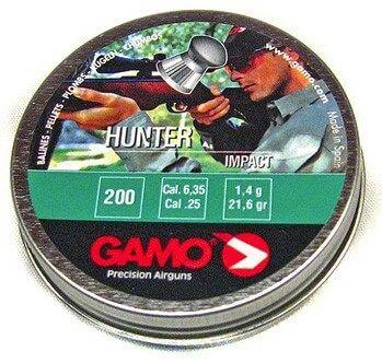 Gamo Hunter Impact 25Cal Air Rifle Pellets Qty 200