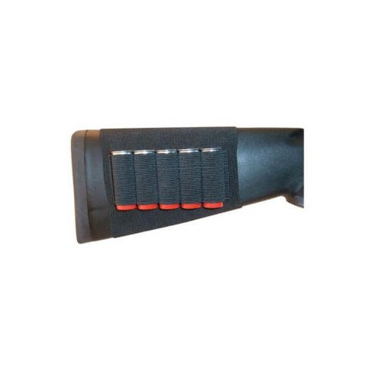 Grovtec Buttstock Black Shotgun Shell Holder 5 Loops