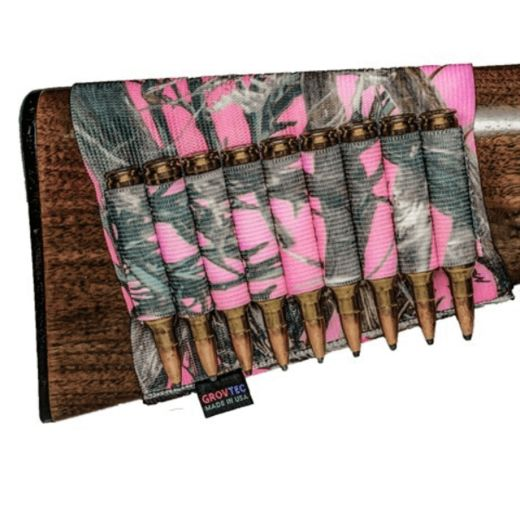 Grovtec Buttstock Rifle Shell Holder TrueTimber Pink Camo