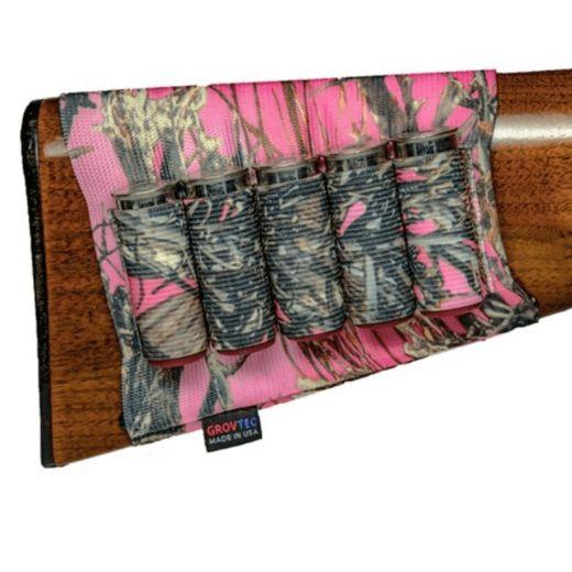 Grovtec Buttstock Shotgun Shell Holder TrueTimber Pink Camo