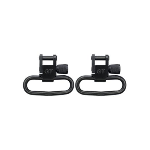 Grovtec Locking Swivel Black Oxide Finish  125andquot Loops Pair
