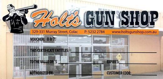 Holts Gun Shop   Gift Voucher 2000