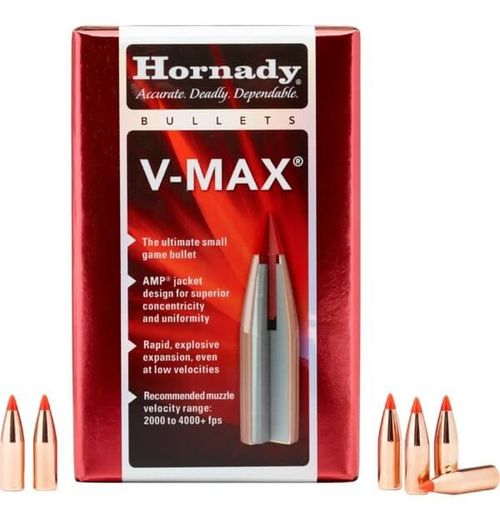 Hornady 22Cal 224 55Gn V Max 100 Pack Projectiles