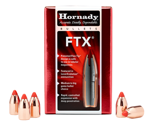 Hornady 45Cal 458andquot 325Gn FTX 50 Pack Projectiles
