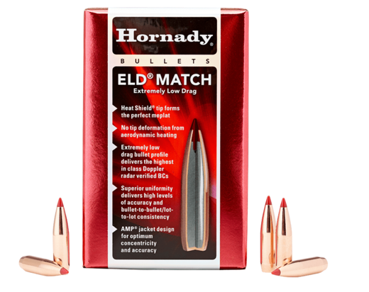 Hornady 65mm 264 140Gn ELD Match 100 Pack Projectiles