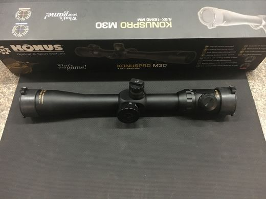 Konus Pro M30 45 16x40 SF Illuminated Reticle Scope
