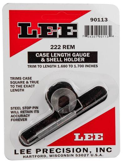 LEE 222Rem Case Length Gauge and Shell Holder