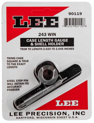 LEE 243Win Case Length Gauge and Shell Holder