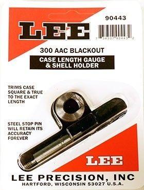 LEE 300 ACC Blackout Case Length Gauge and Shell Holder