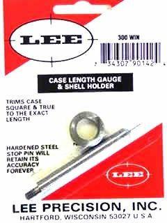 LEE 300 Win Mag Case Length Gauge and Shell Holder