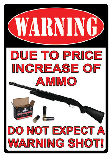Large Tin Sign   Warning Price Increase