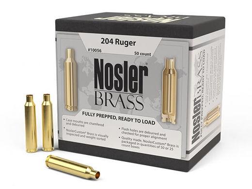 Nosler Custom 204Ruger Unprimed Brass Qty 50
