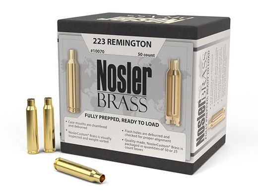 Nosler Custom 223Rem Unprimed Brass Qty 50