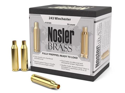 Nosler Custom 243Win Unprimed Brass Qty 50