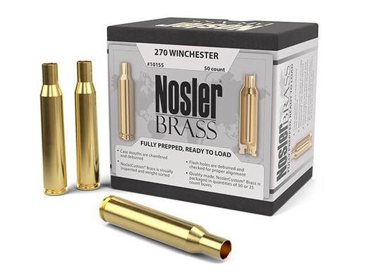 Nosler Custom 270Win Unprimed Brass Qty 50