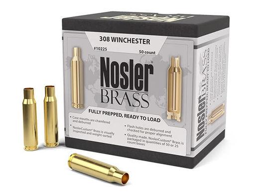 Nosler Custom 308Win Unprimed Brass Qty 50