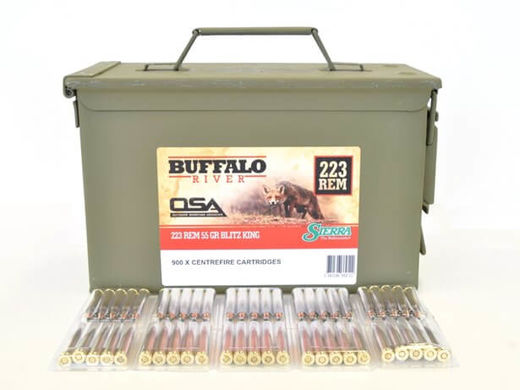 OSA Buffalo River 223Rem 55Grain Blitzking 900 Rounds