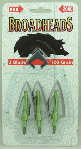 Redzone 2 Blade Broadheads 120gr