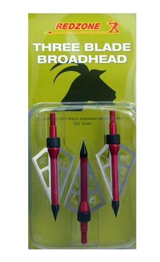 Redzone 3 Blade Broadheads 125gr
