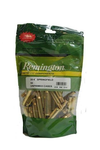 Remington 3006Sprg Unprimed Brass Qty 50
