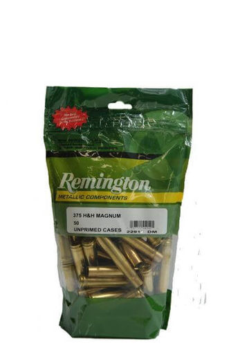 Remington 375HandH Unprimed Brass Qty 50