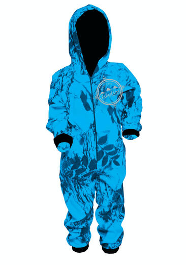 Ridgeline Kids Hyper Blue Camo Onesie