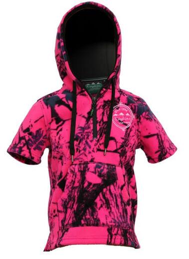 Ridgeline Kids Little Weapon SS Hoodie Hyper Pink Camo