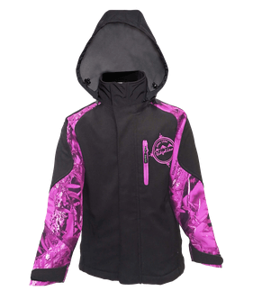 Ridgeline Kids Razorback Jacket   Black  Purple