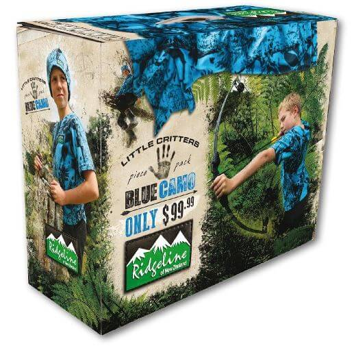 Ridgeline Little Critters Pack Blue Camo