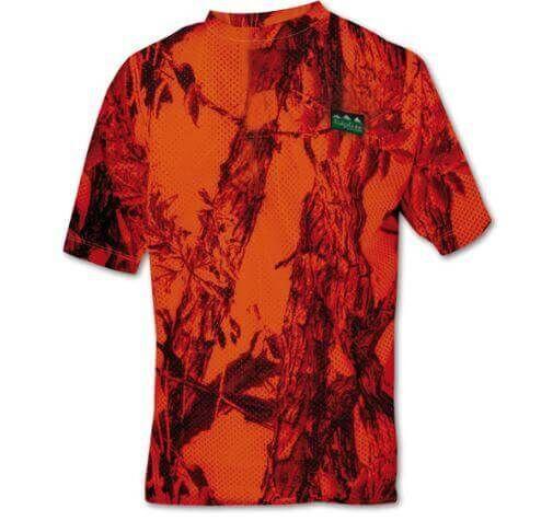 Ridgeline Sable Airflow Short Sleeve T Shirt Blaze Camo
