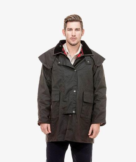 Swanndri Baxter Oilskin Coat Brown