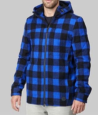 Swanndri Hudson Hoody BlueBlack Check
