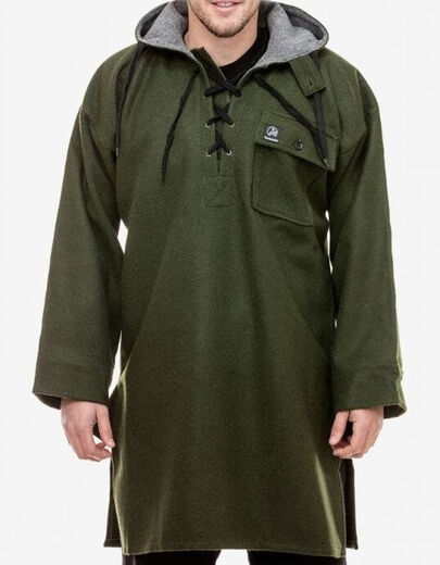 Swanndri Men+39s Original Wool Bushshirt With Lace Up Front
