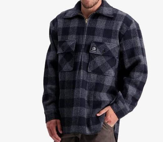 Swanndri Men+39s Ranger Charcoal Check Wool Shirt