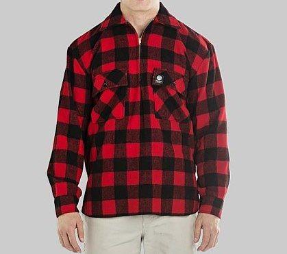 Swanndri Men+39s Ranger RedBlack Check Wool Shirt