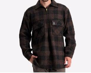 Swanndri Menand39s Ranger Timber Check Wool Shirt